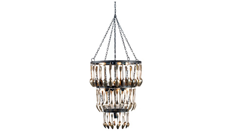 Interieurs - Brocante Chandelier :  silverware dining lighting home decor