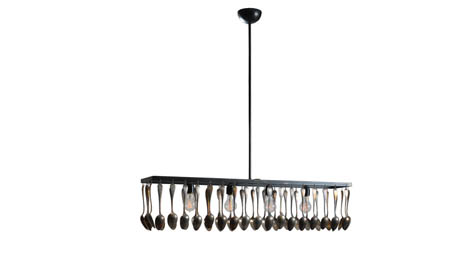 Interieurs - Brocante Rectangular Chandelier :  france silverware dining lighting