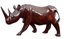 Mahogany Carved Rhino